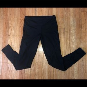 MONO B - Cute BLACK LEGGINGS w/MESH LEG PANELS - S